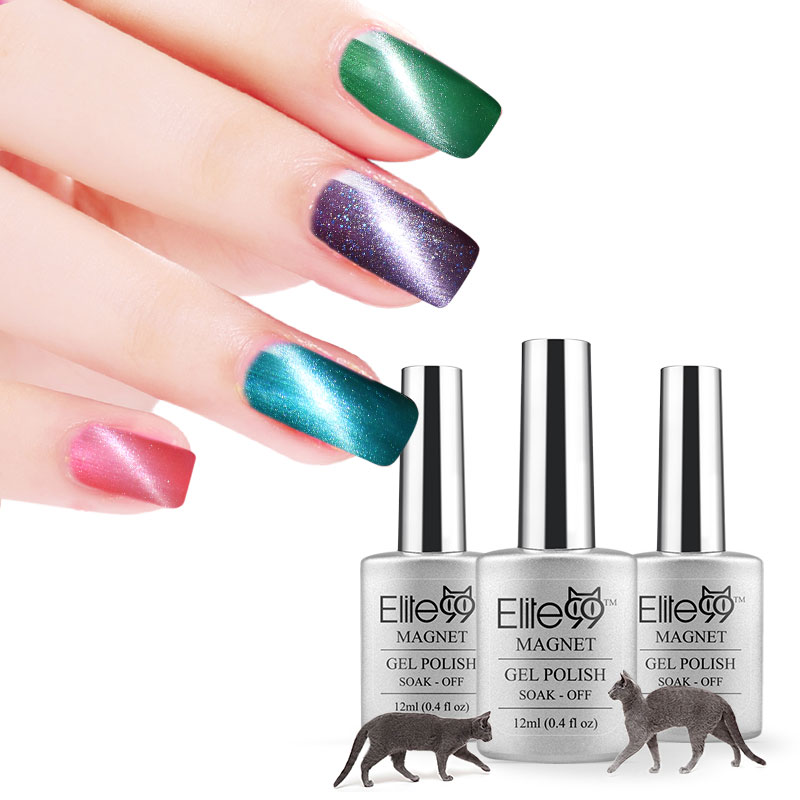 Elite99 12ml Cat Eye UV Gelpolish Soak off Decals Nails Manicure Art ...