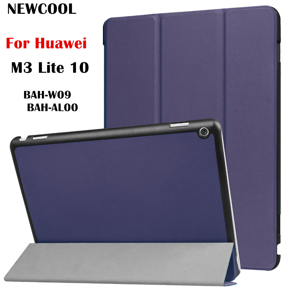 PU Leather Case Smart Flip Cover For Huawei MediaPad M3 Lite 10 10.0 BAH-W09 BAH-AL00 BAH-L09 10.1 Tablet Case Protective Bag luxury pu leather cover business with card holder case for huawei mediapad m3 lite 10 10 0 bah w09 bah al00 10 1 inch tablet