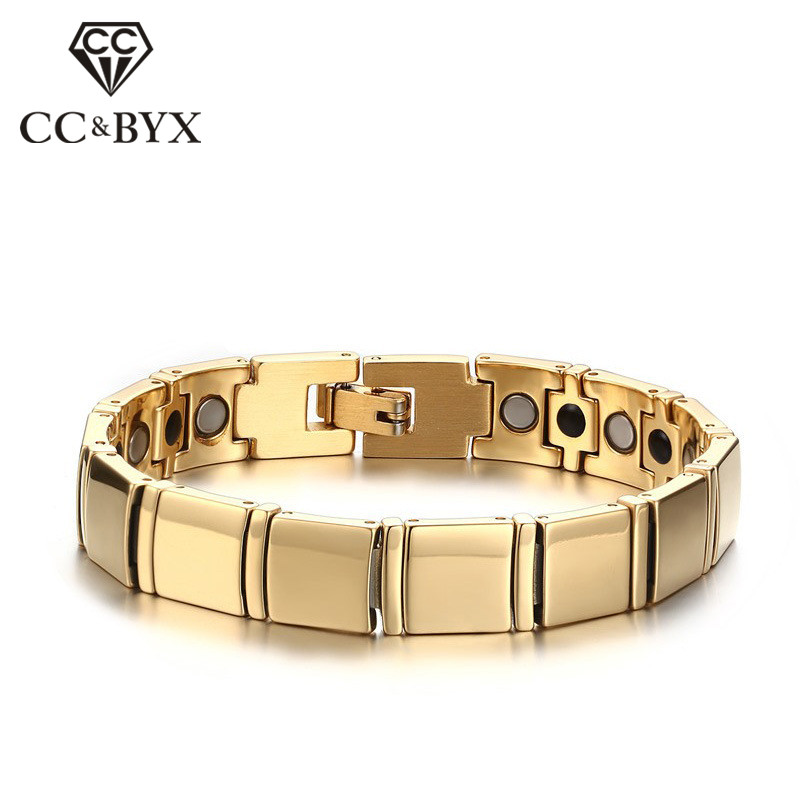 CC Mens Jewelry 11mm Tungsten Steel Gold-Color Bracelet Trendy Jewellery Unique Bangles Bijouterie Drop Shipping WBRM-002