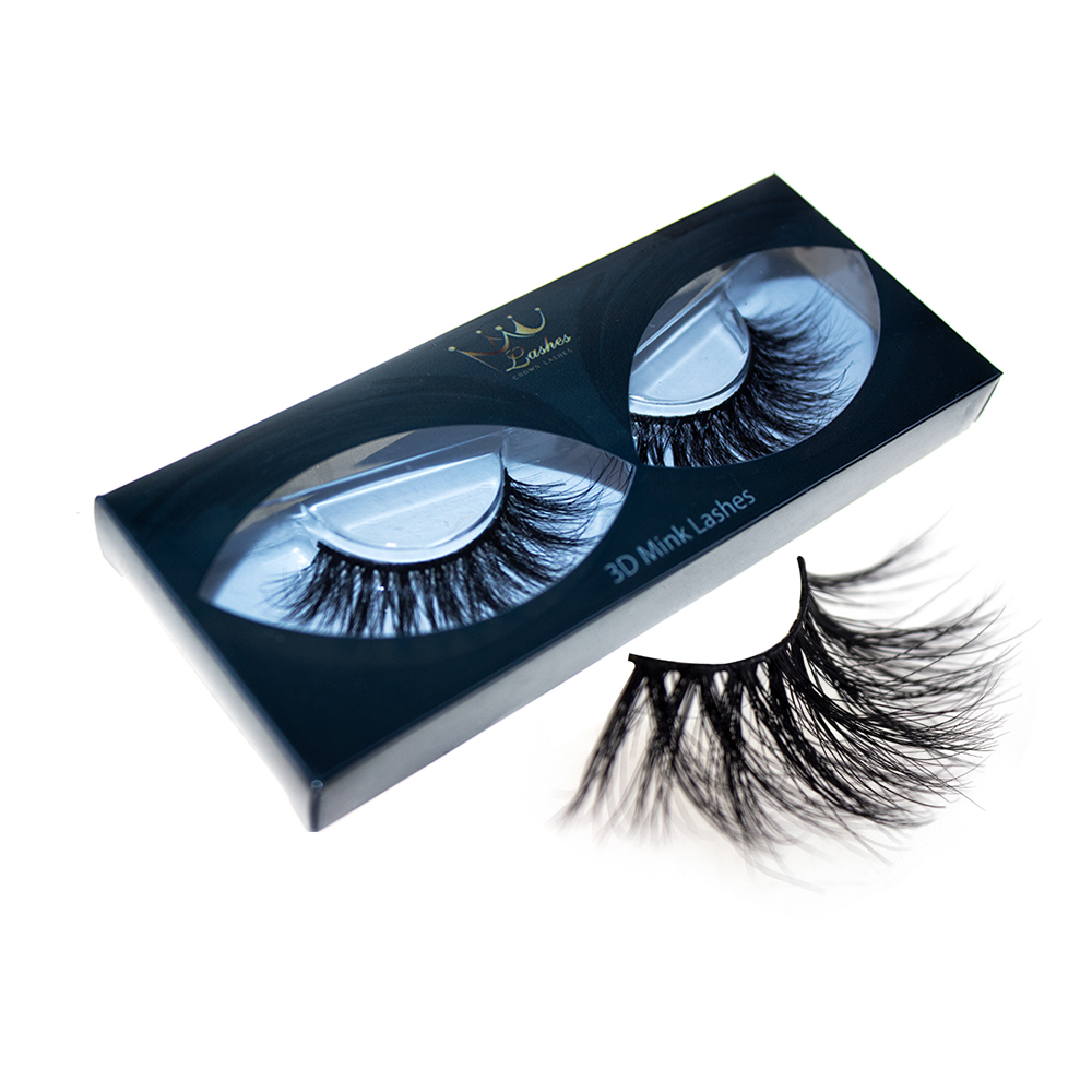 Crown Lashes Professional 3d Faux 25mm Real Human Hair Private Label Mink Eyelashes Vendor Profit Small Beauty Essentials