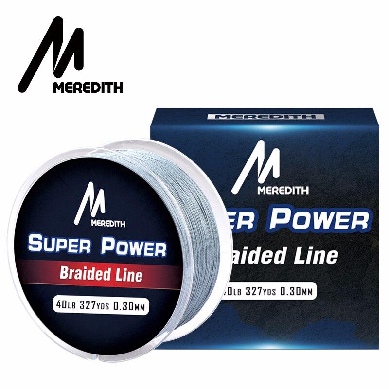 Meredith marca 300 m PE línea de pesca trenzada 4 filamento 10-40LB multifilamento línea de pesca para la pesca de la carpa de alambre para todos pesca