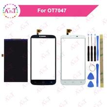 Дешевые 5.5 »для Alcatel One Touch POP C9 OT7047 ЖК-дисплей Экран дисплея + Сенсорный экран планшета черный с инструментом 7047 7047D