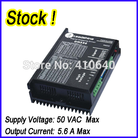 1 pcs Genuine Leadshine DM556 2 Phase 32 Bit DSP Digital Stepper Drive with Max 50 VDC Input Voltage and Max 5.6A Output Current1 pcs Genuine Leadshine DM556 2 Phase 32 Bit DSP Digital Stepper Drive with Max 50 VDC Input Voltage and Max 5.6A Output Current