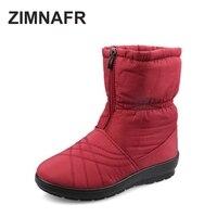 Snow Boots 2016 Brand Women Winter Boots Plus Size Fur Zip Waterproof Antiskid Warm Fashion Women