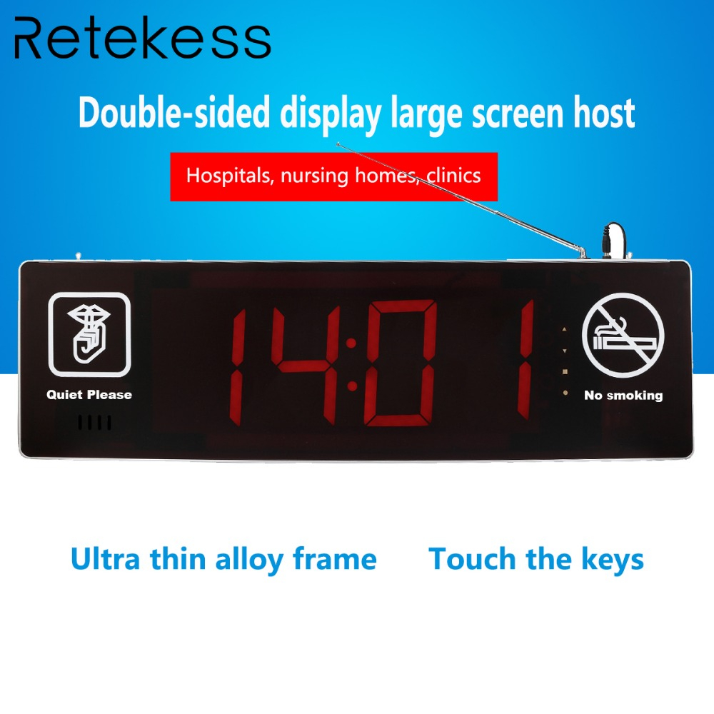 Retekess TD123 Double-sided Display Wireless Calling Host Receiver with Voice Reporting for Nurse Calling System for hospitalsRetekess TD123 Double-sided Display Wireless Calling Host Receiver with Voice Reporting for Nurse Calling System for hospitals