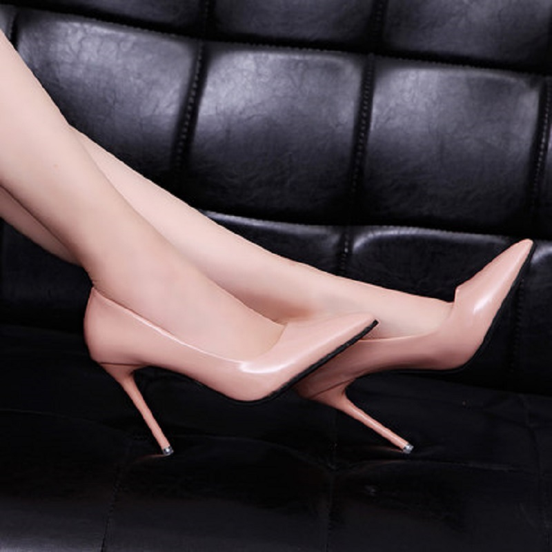 2018 Women Pumps Fashion Sexy Pointed Toe Sweet Colorful Thin High Heels Woman Shoes Nude Women's high-heeled shoes, single shoe lakeshi new fashion pumps thin sexy high heeled shoes woman pointed suede hollow out bowknot sweet elegant women shoes