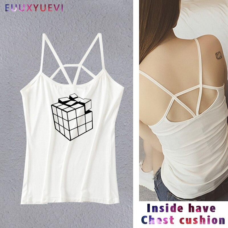 New Rubik Rubix Cube Qube Puzzle Blocks Retro Gaming women girl vest Funny tank top Clothing tanks camis shirt tee