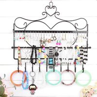 GENBOLI Jewelry Display Rack Iron Frame Wall Mounted Earrings Necklace Holder Earrings Accessories Storage Rack