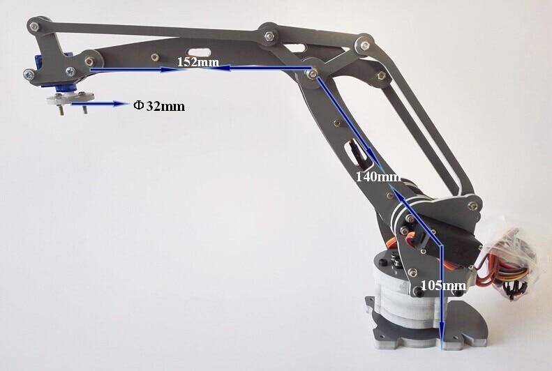 freeshipping The Newest 4 Axis Robotic Arm 4 Dof Mechanical Manipulator Stacker Servo IRB460 Industrial Manipulator Model RC Toy