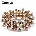 Double layers colors crystal round pulseiras masculina fashion femme bracelets bangles for women bijoux en argent cc bracelet