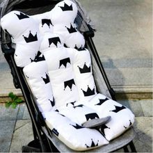 Baby Printed Stroller Pad Seat Warm Cushion Pad mattresses Pillow Cover Child Carriage Cart Thicken Pad Trolley Chair Cushion(China)