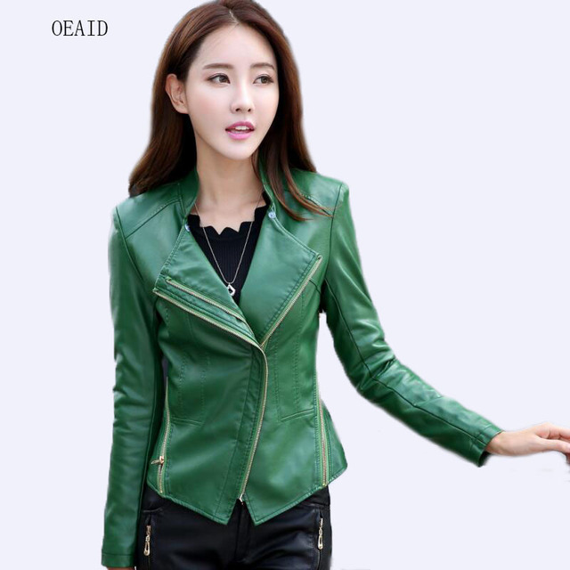 f300c19e55973 Plus Size 3XL 4XL Leather Jacket Women Leather Coat Fur Collar Jackets  Female 2018 Spring Ladies
