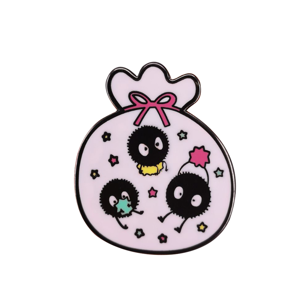 Spirited Away Soot Sprite Enamel Pin Badge Brooch Pins Badges Aliexpress
