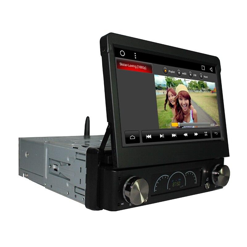 Android 7,1 7 Универсальный 1 Din автомобильный аудио dvd плеер + радио + GPS + Авторадио + стерео + Bluetooth + ПК + Automotivo + SD USB RDS Aux + камера - 3