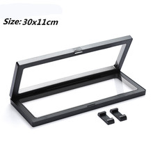 30x11cm PET Membrane Jewelry Pendant Display Stand Holder Bague Packaging Box Protect Jewel