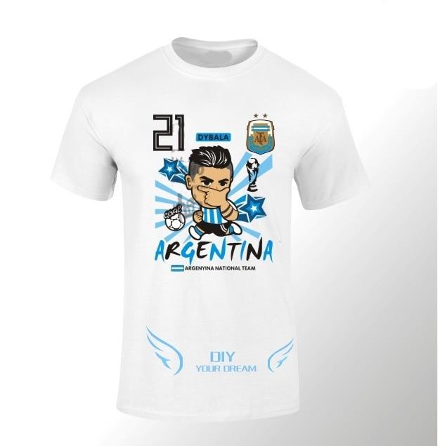 395d28caa 2018 Paulo Dybala cartoon funny Q  10 T-shirt Tees white T SHIRT Men s 100%  cotton for fans gift