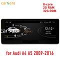 Carsara 2G RAM Android pantalla para Audi A4 A5 2009-2016 de 10,25