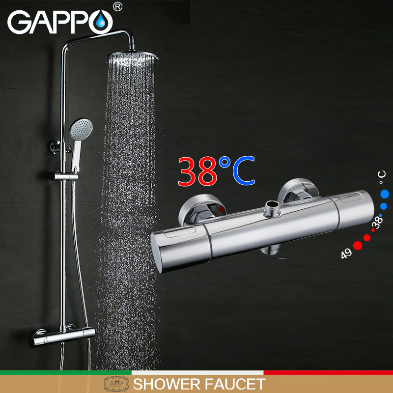 Gappo Shower Faucet Thermostatic Shower Mixer Tap Wall