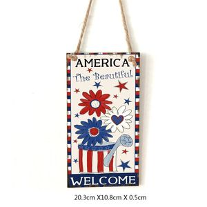 Image 5 - Vintage Wooden Hanging Plaque America The Beautiful Sign Board Wall Door Home Decoration Independence Day Party Gift