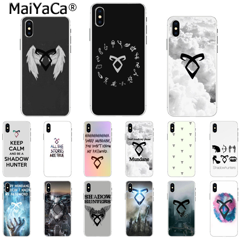 MaiYaCa shadowhunters Black Soft Shell Phone Cover for iPhone 8 7 6 6S Plus  5 5S SE XR X XS MAX Coque Shell
