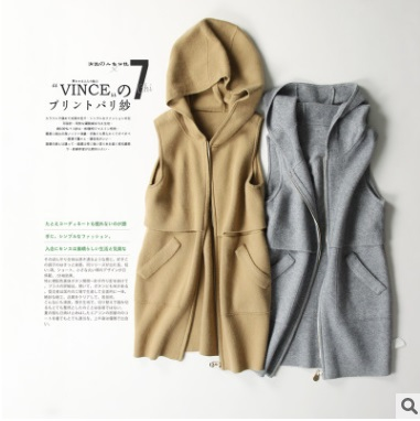 The spring of 2018, product release, the original design women loose big yards cashmere wool vest