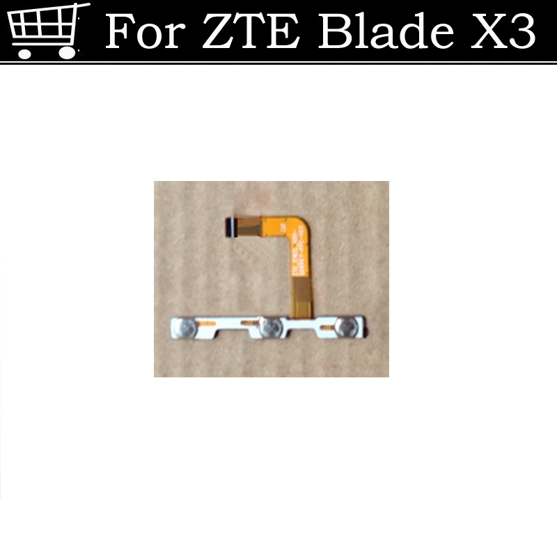 Used Test Good On/Off Power + Button Keypad volume Flex Cable Ribbon For ZTE Blade X3 D2 T620 Order Tracking image