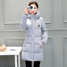 In winter, the new Korean version of cotton dress lady has a large cap and long hat