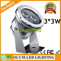 DHL Free 10PC 12V Underwater LED Light 3W 6W 9W for Fountains White RGB Underwater Spot Light Waterproof IP68 Pool Lamp