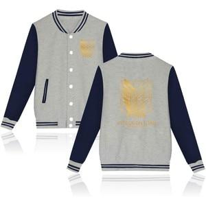 Image 4 - 2020 обувь для косплея по аниме «атака на Титанов» аниме бейсбольная куртка уличная пальто повседневный спортивный костюм мужские пальто и куртки размера плюс, одежда для мальчиков