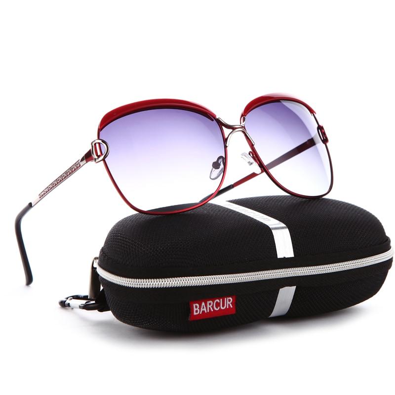 BARCUR Polarized Ladies Sunglasses Mulheres Lente Gradiente Mulheres - Acessórios de vestuário - Foto 4