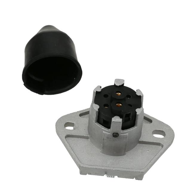 7 Pin Trailer Plug Heavy Duty Round Pin 7 Pole Wiring ...