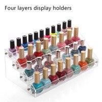 Bincoco nail polish display titular de cuatro capas de esmalte de uñas organizador caso de una variedad de Joyas de rack cosmética Caja de Acrílico Del Maquillaje