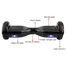 2 Wheels Self Balancing Electric Scooter Hover Board Smart Balance Hoverboard With Bluetooth Speaker  Lock carry bag