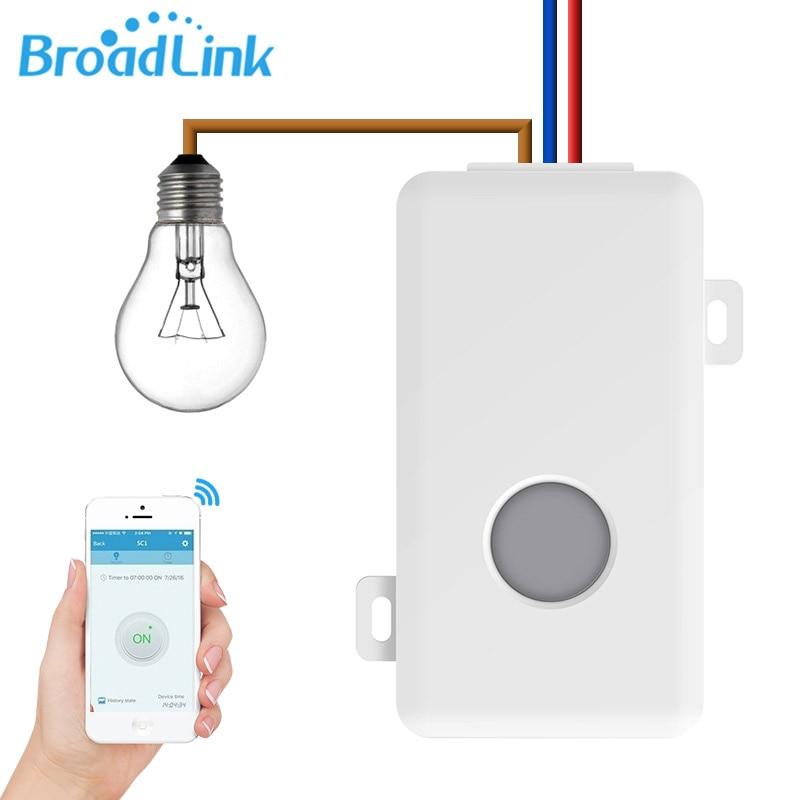 Broadlink SC1 מודולים מתג חכם אוטומציה ביתית WiFi APP 2.4 GHz תיבת בקרת עיתוי שלט רחוק אלחוטי 2500 W