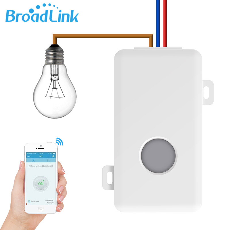Broadlink SC1 Home Automation Modules Smart Switch WiFi APP 2.4GHz Control Box Timing Wireless Remote Control 2500W joker