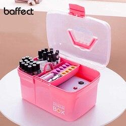 Baffect plastikowy organizer na kosmetyki pudełko typu organizer etui na szminki polski paznokci stojak zestaw do manicure pulpit przybory kosmetyczne pojemnik