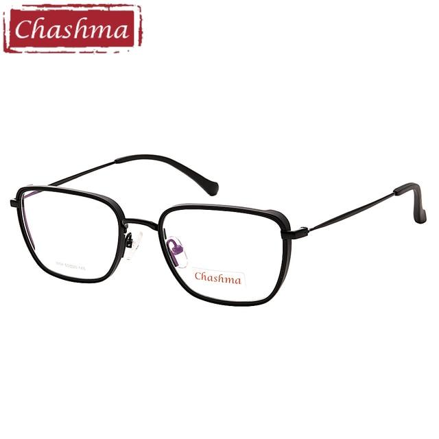 9634c1504 Chashma Marca Design Simples Homens Vidros Ópticos armacao parágrafos oculos  de grau masculino Quadrado Forma de