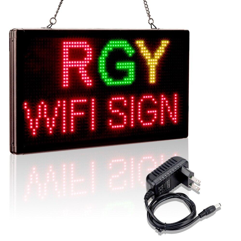 Panneau de signe de LED d'usb de Wifi programmable mobile de LED de plomb P4.75 affichage à LED smd panneau de message extérieur pour le panneau de signe de LED de publicité