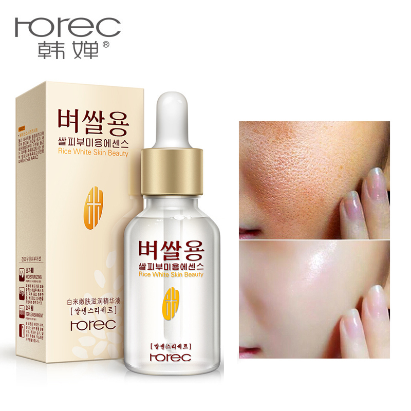 2019 White Rice Whitening Serum Face Moisturizing Cream Anti Wrinkle Anti Aging Face Fine Lines Acne Treatment Skin Care 15ml