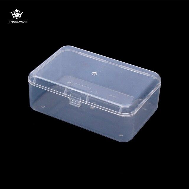 Mejores ventas de Caja Transparente De Plástico Transparente Cuadrados Multipurpose Display Caja De Plástico Cajas De Joyas De Almacenamiento