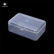 Top selling Transparent Plastic Storage Box Clear Square Multipurpose Display Case Plastic Jewelry Storage Boxes(China)