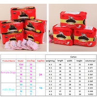 Misterolina Female Male Sanitary Pet Dog Physiological Pants Panties Hygienic Shorts Pet Trousers Dogs Underwear Diaper