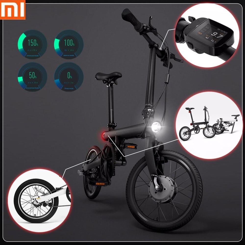 100% Original Xiaomi QiCYCLE-EF1 inteligente bicicleta eléctrica plegable Bluetooth 4,0 16 pulgadas Mini bicicleta eléctrica APP Ebike aire libre