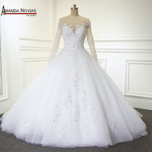 AMANDA NOVIAS Elegant Bridal Gowns Wedding Dresses 2019