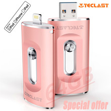 Special offer High Speed for Lightning Port Dual Plug USB Flash Drive 64GB for iPhone iPad