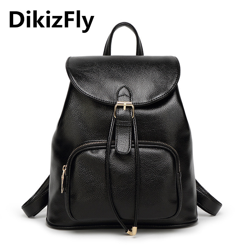 DikizFly! New Preppy Style Backpacks women school backpack PU leather brand Fashion designer backpacks women Fashion bagpack 2015 new fashion designer genuine leather brand ladies preppy style women backpack school backpack women shoulder wnb069