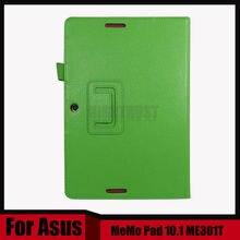 Nueva ultra delgada del caso del soporte para asus memo pad smart me301 me301t 10.1 pulgadas tablet + stylus