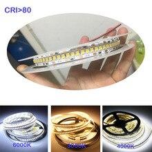 1800lm/m 높은 CRI 80+ 5m 1200 LED 2835 Bande LED 12V 24v 조명 sttrip 유연한 Llight 240 led/m LED 스트립 흰색 따뜻한 흰색
