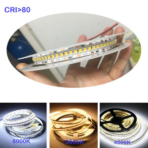 1800lm/m High CRI 80+ 5m 1200 LED 2835 Bande LED 12V 24v lights sttrip Flexible Llight 240 led/m LED strip White Warm white