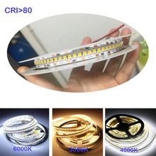 1800lm/m haut CRI 80+ 5m 1200 LED 2835 Bande LED 12V 24v lumières sttrip Flexible Llight 240 led/m LED Bande blanc chaud blanc
